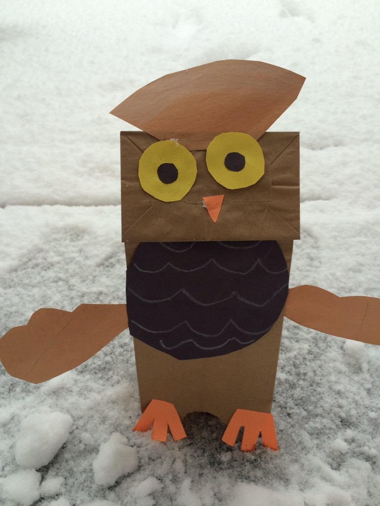 Chit Chat and Small Talk: Paper Bag Owl Craft | 1024x768