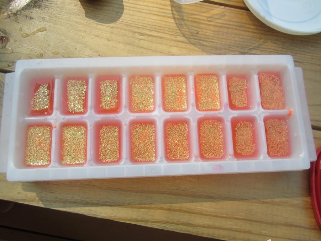 glitter cubes